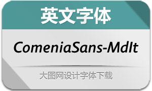 ComeniaSans-MdIt(英文字体)