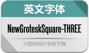 NewGroteskSquare-THREE(字体)