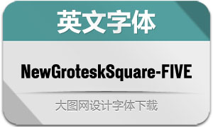 NewGroteskSquare-FIVE(字体)