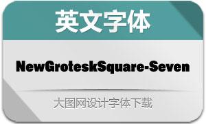 NewGroteskSquare-SEVEN(字体)