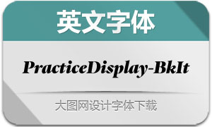 PracticeDisplay-BlackItalic(字体)