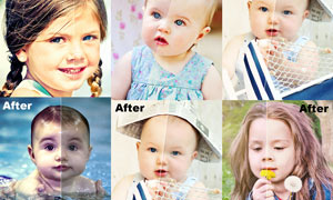 儿童照片肤色润饰和美化PS动作