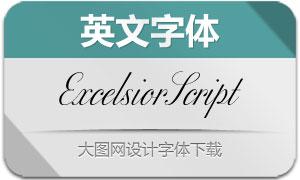 ExcelsiorScript系列英文字体