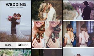30款婚礼照片复古艺术效果LR预设
