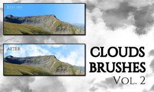 高清晰云朵云彩PS笔刷V2