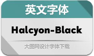 Halcyon-Black(英文字体)