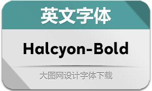 Halcyon-Bold(英文字体)