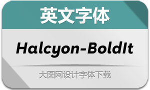 Halcyon-BoldItalic(英文字体)