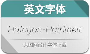 Halcyon-HairlineItalic(英文字体)