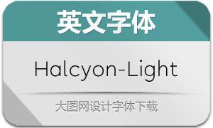 Halcyon-Light(英文字体)