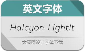 Halcyon-LightItalic(英文字体)