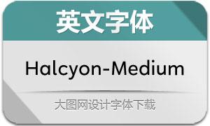 Halcyon-Medium(英文字体)