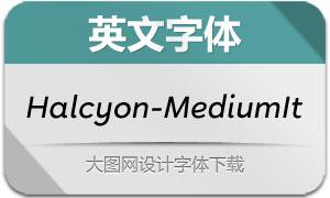 Halcyon-MediumItalic(英文字体)