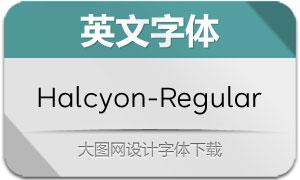 Halcyon-Regular(英文字体)
