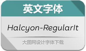 Halcyon-RegularItalic(英文字体)