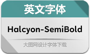 Halcyon-SemiBold(英文字体)