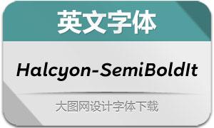 Halcyon-SemiBoldItalic(英文字体)