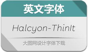 Halcyon-ThinItalic(英文字体)