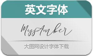 MissAmber(英文字体)
