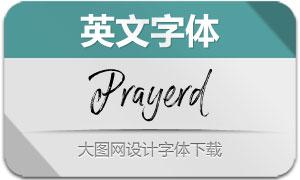 Prayerd系列三款英文字体