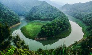 鄂鱼嘴湾美丽景观摄影图片