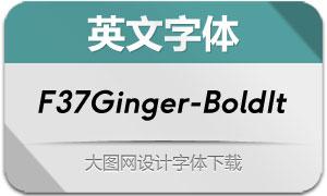 F37Ginger-BoldItalic(英文字体)