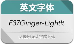 F37Ginger-LightItalic(英文字体)