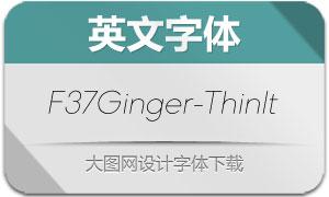 F37Ginger-ThinItalic(英文字体)