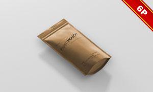 牛皮纸材质密封袋展示效果贴图模板