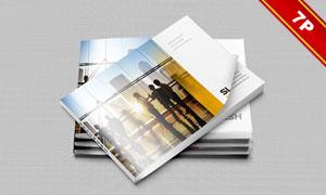 产品推广介绍画册页面贴图分层模板
