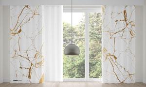 房间落地窗帘图案效果贴图分层模板