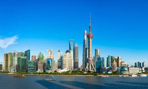 上海外滩建筑群全景摄影美高梅