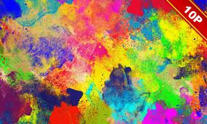五颜六色抽象水彩元素背景高清图片
