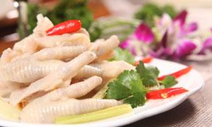 泡椒凤爪美食凉菜摄影图片