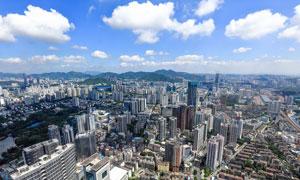 深圳建筑风光全景摄影图片