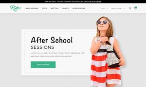 儿童鞋靴线上购物网站设计分层模板