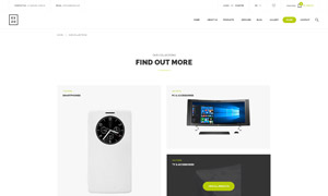 影音数码装备网站页面设计分层模板