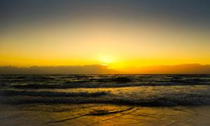 澳大利亚海岸夕阳美景摄影图片