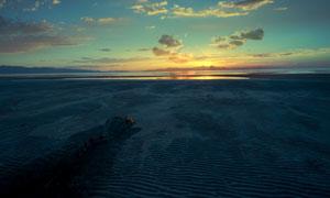 湖边美丽的日落景色高清摄影图片