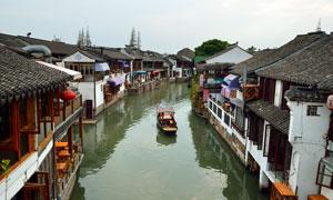 乌镇江南水乡美景摄影图片