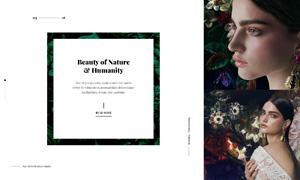 网站时尚创意布局版式设计分层模板
