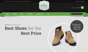 鞋靴服饰线上购物网站设计分层模板