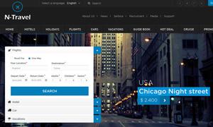 旅游票务主题网站页面设计分层模板