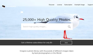 图片摄影类网站单一页面设计源文件