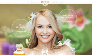 肌肤护理等美容类网站设计分层模板