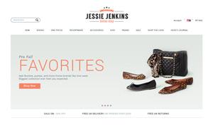 时尚服饰主题网站单一页面分层模板