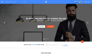 设计作品交易平台网站设计分层模板