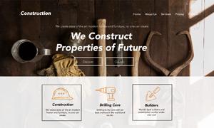 工程建设公司网站着陆页设计源文件
