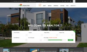 房产中介经纪公司网站设计分层模板