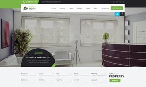 房产中介公司网站页面布局设计模板